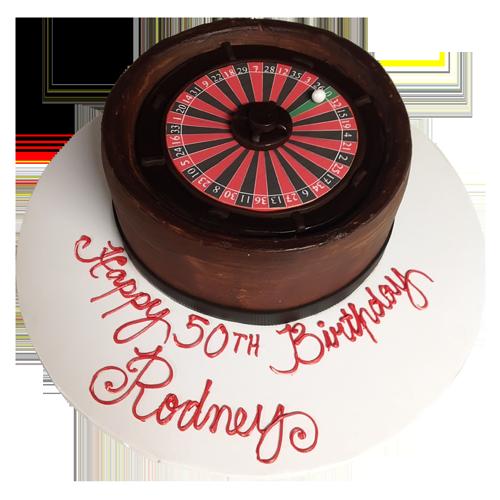 casino spin wheel cake