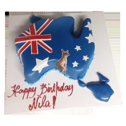 Australia Map Cake