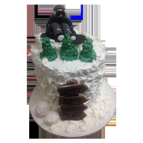 Snow Boarding Cake