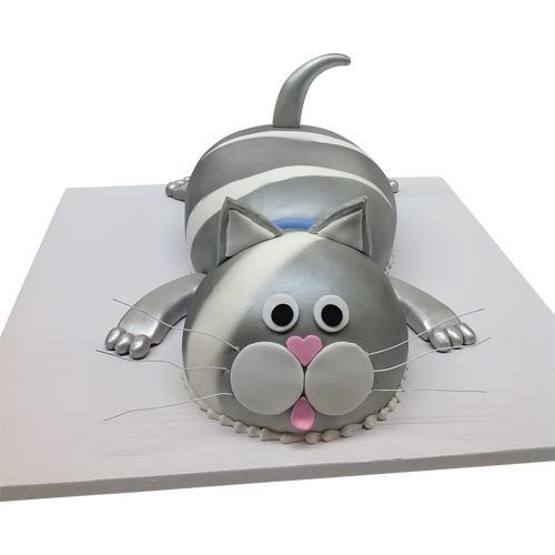 Silver Cat Cake