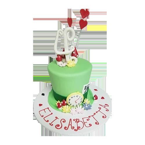 Green Fondant Cake