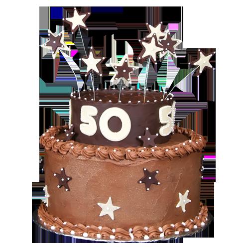 50th birthday cake designs