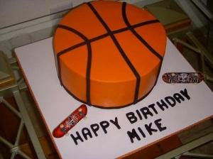 Basketball Round Cake