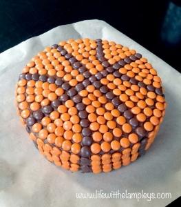 Candy Basketball Cake