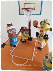 Minion Basketball Cake