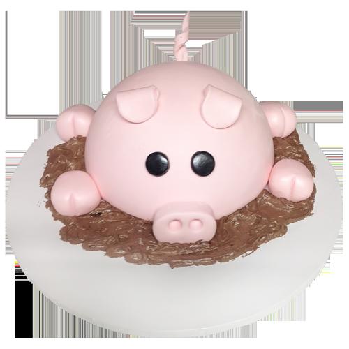 cute pig cake