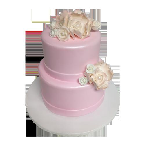 Pink Fondant Cake