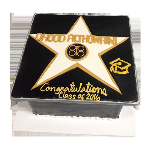 Star Congratulations Cake