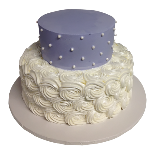 White and Purple Cake