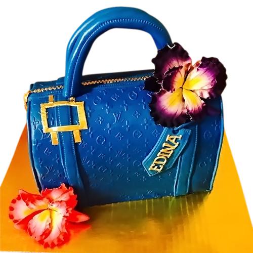Louis Vuitton Blue Bag Cake