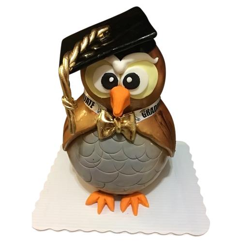 Sculpted Owl Cake
