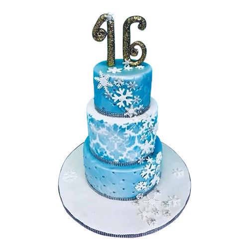 Blue Winter Cake