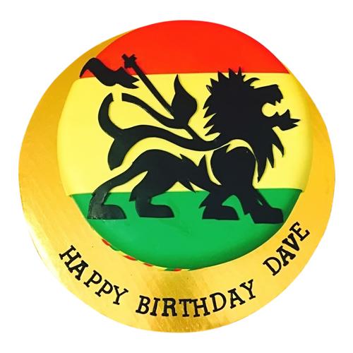 Rasta Lion Cake