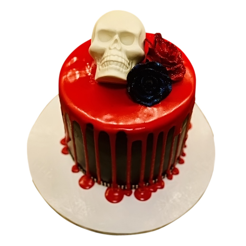 Romantic Skull Cake